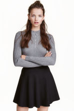 Ribbed jumper - Dark grey marl - Ladies | H&M CN 1