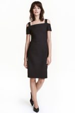 Cold shoulder dress - Black - Ladies | H&M CN 1