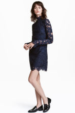Abito in pizzo - Blu scuro - DONNA | H&M IT 1