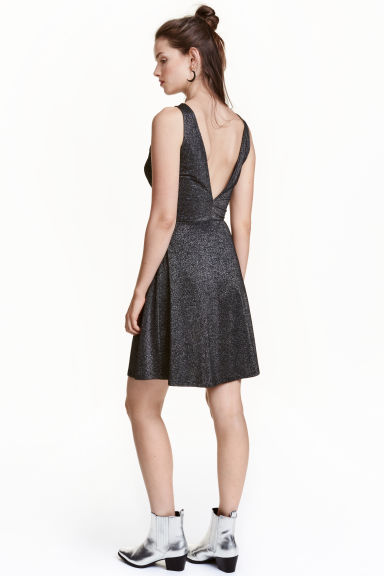 Short dress - Silver - Ladies | H&M CN 1