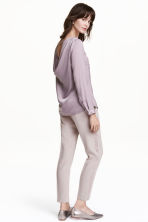 Ankle-length tuxedo trousers - Lilac - Ladies | H&M GB 1