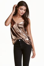 V-neck strappy top - Bronze - Ladies | H&M CN 1