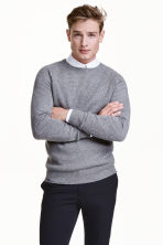 Textured cashmere jumper - Grey - Men | H&M CN 1