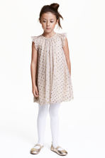 Tulle dress - Light mole/Spotted - Kids | H&M CN 1