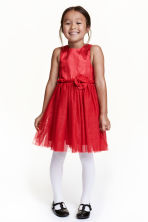 Glittery tulle dress - Red - Kids | H&M CN 1