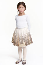 Gonna in tulle con paillettes - Bianco/dorato - BAMBINO | H&M IT 1