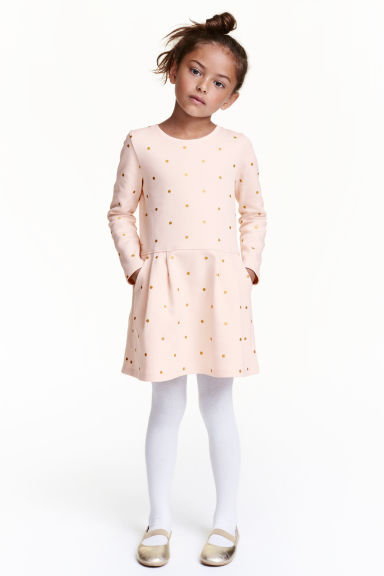 Sweatshirt dress - Powder/Spotted - Kids | H&M CN 1
