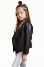 Draped jacket - Black - Kids | H&M CN 1