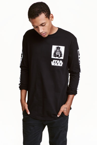 T-shirt stampata - Nero/Star Wars -  | H&M IT 1