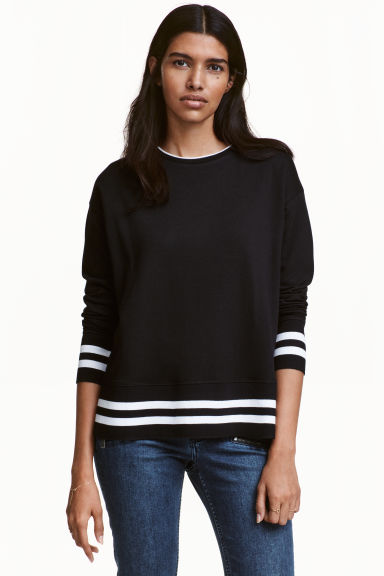 Sweatshirt - Black - Ladies | H&M CN 1
