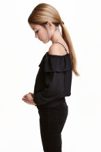 Cold shoulder blouse - Black - Kids | H&M CN 1