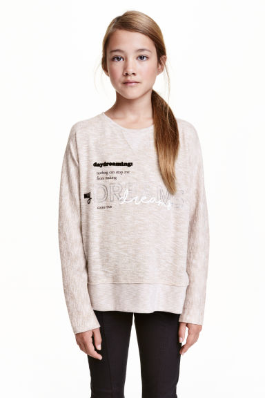 Knitted jumper - Light beige -  | H&M CN 1