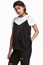 V-neck strappy top - Black - Ladies | H&M GB 1