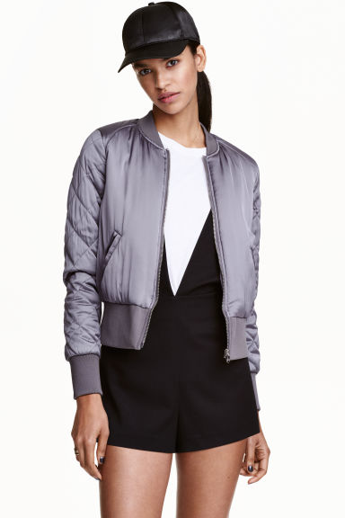 Bomber jacket - Grey - Ladies | H&M GB 1