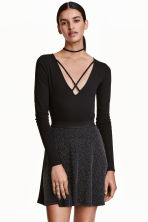 V-neck body - Black - Ladies | H&M CN 1