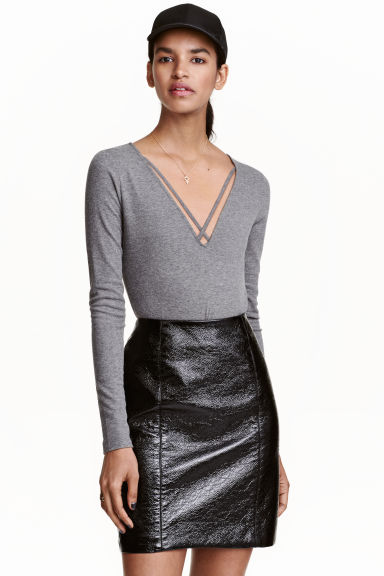 V-neck body - Grey - Ladies | H&M CN 1
