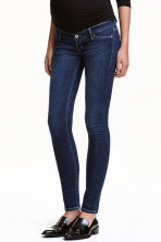 MAMA Skinny Low Rib Jeans - Dark denim blue -  | H&M CN 1