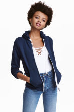 Hooded jacket - Dark blue - Ladies | H&M CN 1