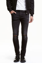 Skinny Low Ripped Jeans - Dark grey - Men | H&M CN 1