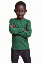 Cotton and cashmere jumper - Green - Kids | H&M CN 1