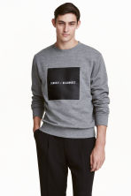 Sweatshirt - Grey marl/Text - Men | H&M CN 1