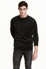 Sweatshirt - Black - Men | H&M CN 1