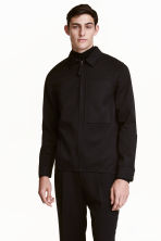 Wool-blend shirt jacket - Black - Men | H&M CN 1