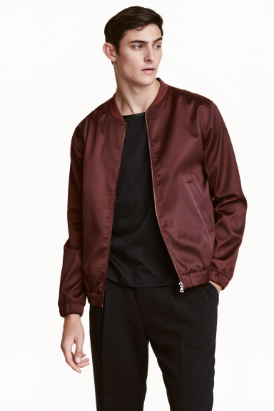 Bomber jacket - Burgundy - Men | H&M CN 1
