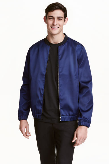 Bomber jacket - Navy blue - Men | H&M CN 1