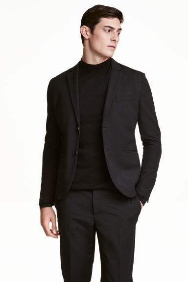 Textured jacket Slim fit - Black - Men | H&M CN 1