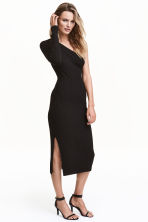 One-shoulder dress - Black - Ladies | H&M CN 1