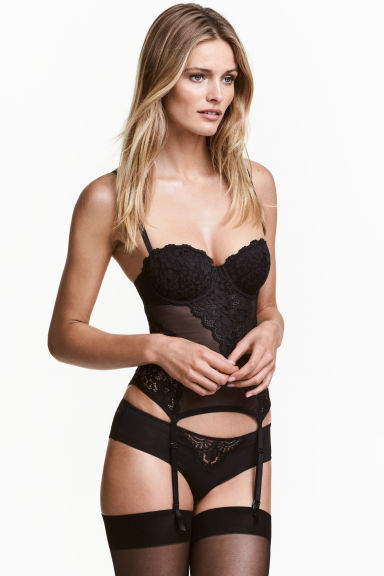Mesh and lace corset - null - Ladies | H&M CN 1