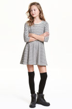 Skater dress - Natural white/Striped - Kids | H&M CN 1