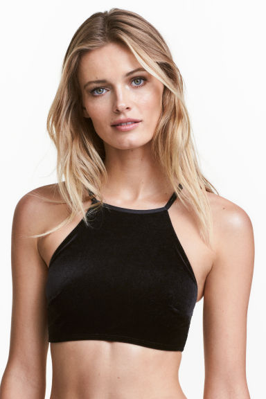 Bra top - Black - Ladies | H&M CN 1