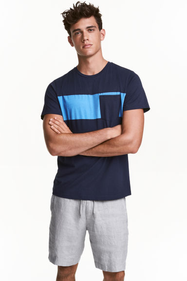 T-shirt - Blu scuro - UOMO | H&M IT 1
