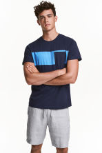 T-shirt - Dark blue - Men | H&M CN 1
