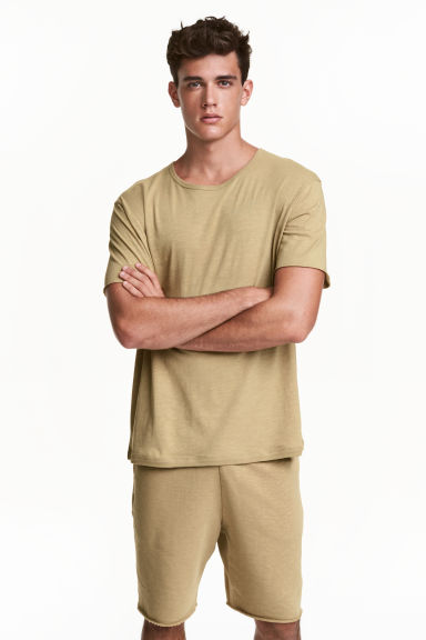 Jersey T-shirt - Khaki - Men | H&M CN 1
