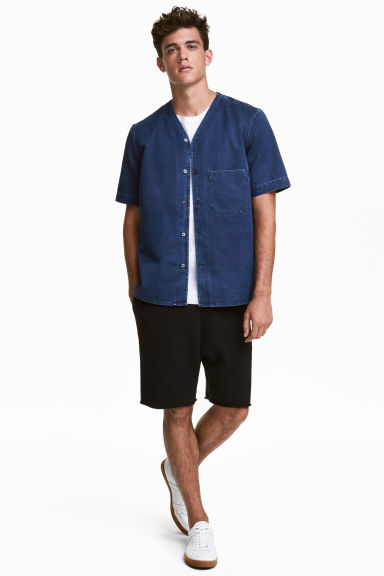 Shorts corti in felpa - Nero - UOMO | H&M IT 1