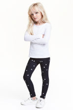 Leggings in denim fantasia - Blu scuro/stelle - BAMBINO | H&M IT 1