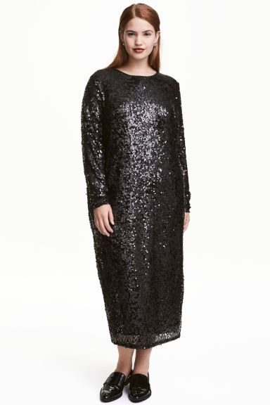 H&M+ Sequined dress - Black - Ladies | H&M CA 1