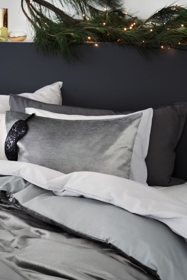 Taie d'oreiller - Gris anthracite - Home All | H&M FR 1