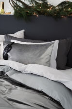 Washed cotton duvet cover set - Light grey - Home All | H&M GB 3