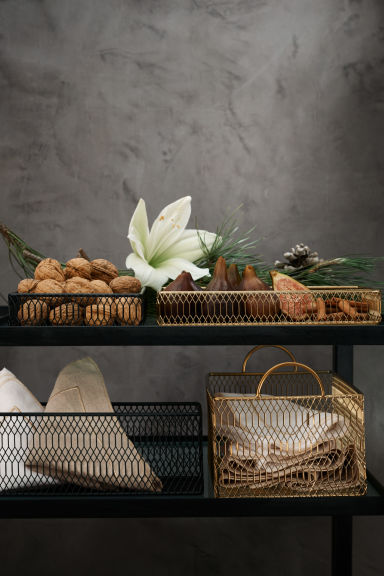 Metal storage basket - Gold - Home All | H&M GB 1