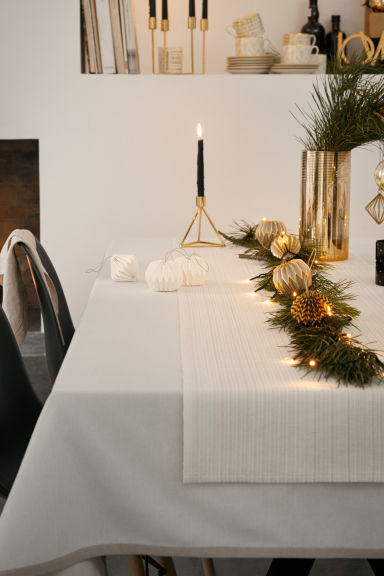 Cotton tablecloth - Light beige - Home All | H&M CN