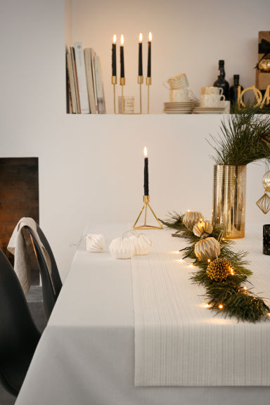 Metal candlestick - Gold - Home All | H&M CA 1