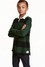 Rugby shirt - Dark green/Striped - Kids | H&M CN 1