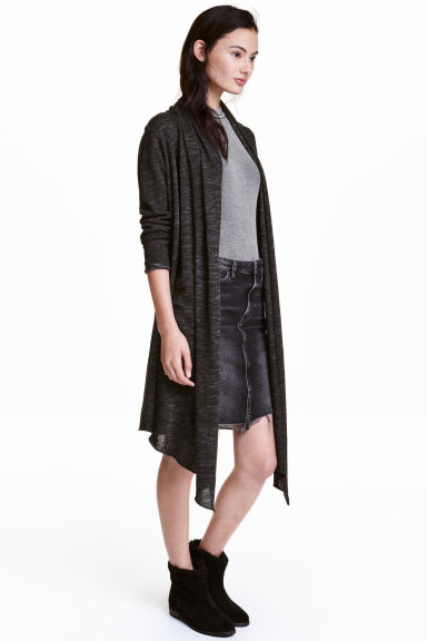 Knitted cardigan - Dark grey - Ladies | H&M CN 1