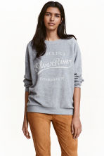 Fleece top - Light grey marl - Ladies | H&M CN 1