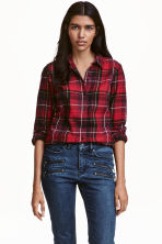 Camicia in flanella a quadri - Rosso - DONNA | H&M IT 1
