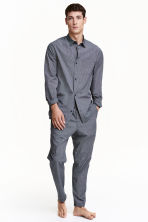 Pyjamas - Dark blue/Small checked - Men | H&M CN 1